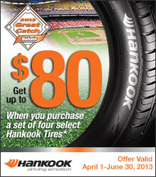 Hankook Tires, Hankook Rebate, Hankook Promotion